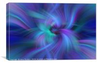Blue Purple Green abstract. Concept  Oneness with the Universe, Canvas Print