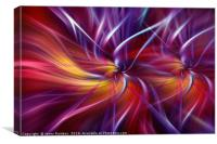 Dynamic crimson purple orange abstract. Concept Two Souls, Canvas Print