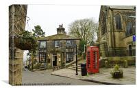 British village scene, Canvas Print