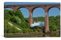 Steam Train Whitby viaduct, Canvas Print