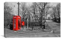 Hurstwood Village, Lancashire., Canvas Print