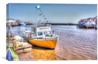 Boats in Whitby Harbour., Canvas Print