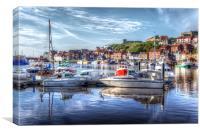 Seaside harbour, Canvas Print