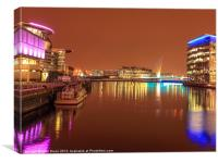Princess Katherine at Salford Quays, Canvas Print