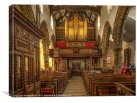 Whalley Parish Church, Canvas Print