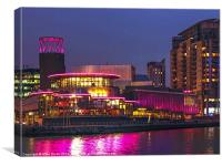 Quays Theatre Salford, Canvas Print