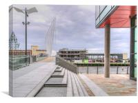 Media City bridge Salford, Canvas Print