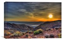 Death Valley Sunrise, Canvas Print