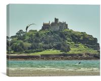 Kites and Castle, Canvas Print