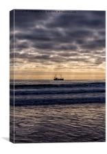 Sunrise Fishing, Canvas Print