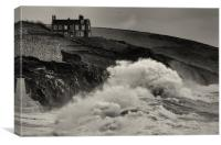 cliff top house, Canvas Print
