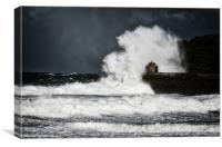 Portreath Pier Monkey House, Canvas Print