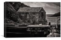 Fishermans cottage, Canvas Print