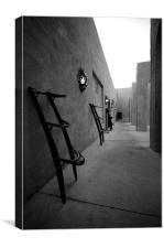 Desert courtyard, Canvas Print
