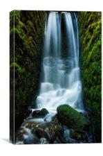 Secret waterfall, Canvas Print