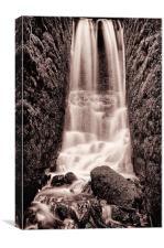 Secret waterfall Copper tone, Canvas Print