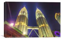 The Petronas Towers, Canvas Print