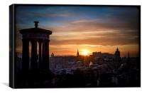 Sunset from Calton Hill, Canvas Print