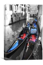 Gondolas of Venice, Canvas Print