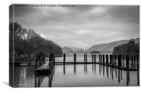 Keswick Docks, Canvas Print