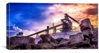 Industrial Desolation, Canvas Print