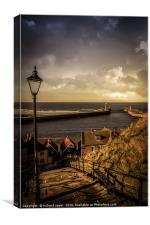 Vintage Whitby, Canvas Print