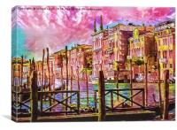 A Song of Venice, Canvas Print