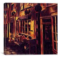 Cafe Rouge, Canvas Print