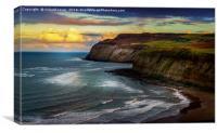 Boulby Cliffs, Canvas Print