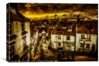Bygone Whitby, Canvas Print