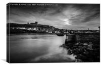 Whitby Rocks, Canvas Print