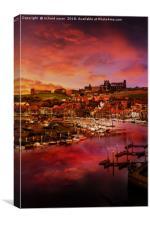Whitby Port, Canvas Print
