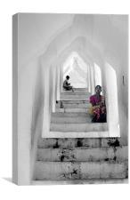 Waiting, Mandalay, Myanmar, Canvas Print