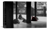 Studying, Mandalay, Myanmar, Canvas Print