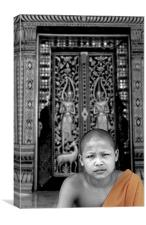 Posing, Laos, Canvas Print