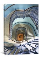 stairway, Budapest, Canvas Print