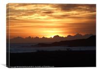 Aberdeen Coast Dawn, Canvas Print