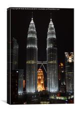 Petronas Towers KL, Canvas Print
