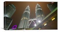 Petronas Towers Kuala Lumpur, Canvas Print