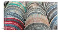 Multi-coloured food baskets, Canvas Print