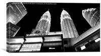 KLCC & Petronas Towers, Canvas Print