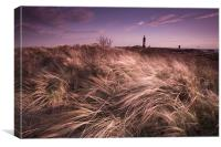 Spurn point lighthouse, Canvas Print