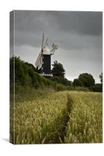 Skidby windmill, Canvas Print