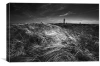 Spurn point light house, Canvas Print