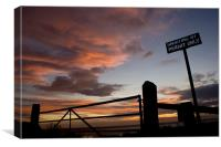 Sunset over the humber, Canvas Print
