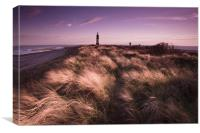 Spurn point sunset, Canvas Print