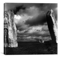 Standing Stones, Avebury, Wiltshire., Canvas Print