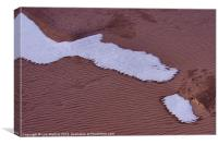 Red sand and snow, Canvas Print