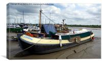 Thames sailing barge Catharina, Canvas Print