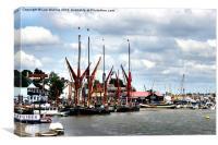 Thames sailing barges at Maldon, Canvas Print
